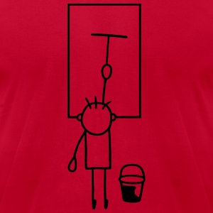 Man cleans window T-Shirts - Men's T-Shirt by American Apparel