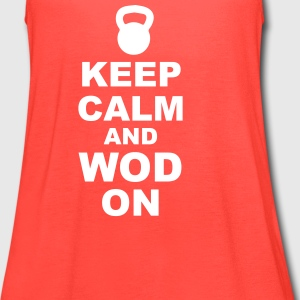 Keep Calm and WOD On - Women's Flowy Tank Top by Bella
