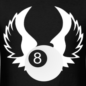 8 Ball with Wings - Men's T-Shirt