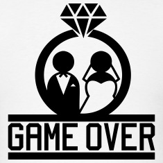 Game Over - Wedding T-Shirts