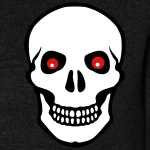 skull and read eyes Zip Hoodies/Jackets - Unisex Fleece Zip Hoodie by American Apparel