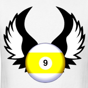 9 Ball with Wings - Men's T-Shirt
