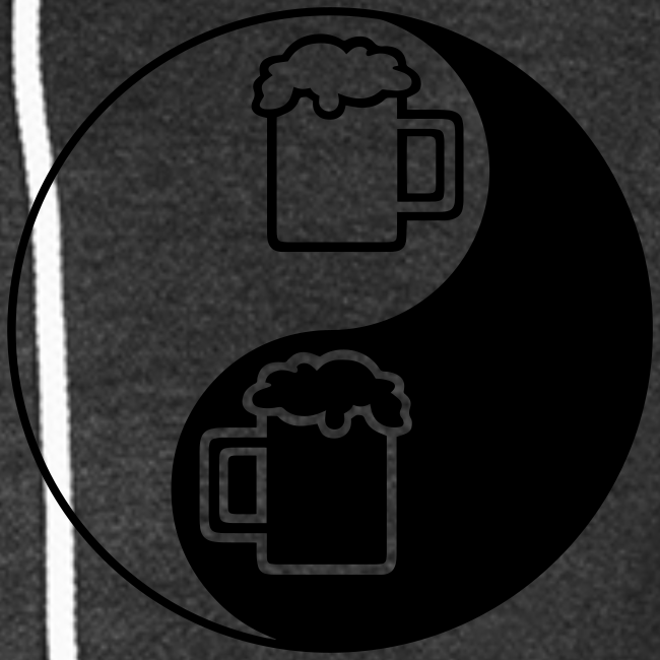 Yin-Yang Beer Mugs Unisex Fleece Hoodie (Double Sided)