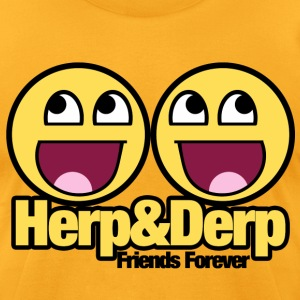 Herp Derp Humor - Men's T-Shirt by American Apparel