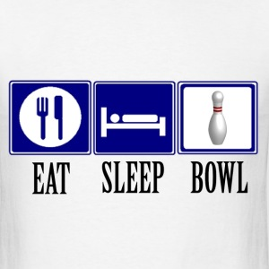 Eat, Sleep, Bowl - pin - Men's T-Shirt