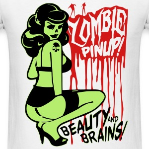 Zombie Pin Up T-Shirts - Men's T-Shirt