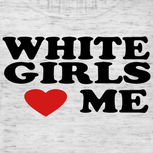 WHITE GIRLS LOVE ME Tanks - Women's Flowy Tank Top by Bella