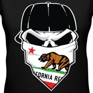 California Skull - Women's V-Neck T-Shirt