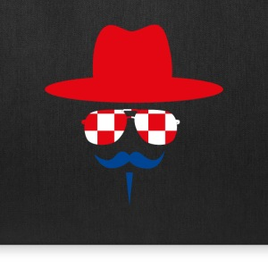 Croatia Fan with mustache Bags & backpacks - Tote Bag