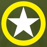 Design ~ Yellow Ring White Star National Symbol