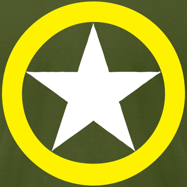 Militee Yellow Ring White Star National Symbol Mens Fine Jersey
