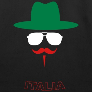 Italy Fan with mustache Bags & backpacks - Eco-Friendly Cotton Tote