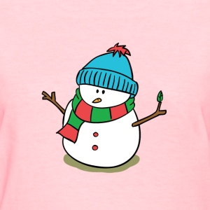 cute snowman with snow cap and scarf Women's T-Shirts - Women's T-Shirt