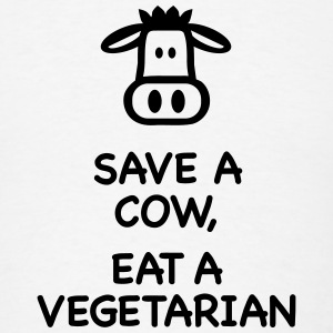 Save a Cow eat Vegetarian T-Shirts - Men's T-Shirt