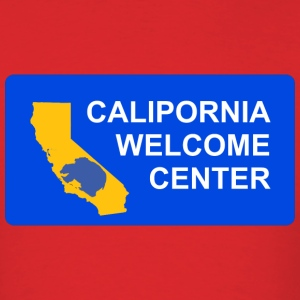 calipornia_welcome_ctr T-Shirts - Men's T-Shirt