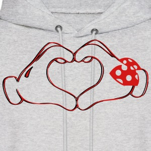 mickeys hand heart love Hoodies - Men's Hoodie