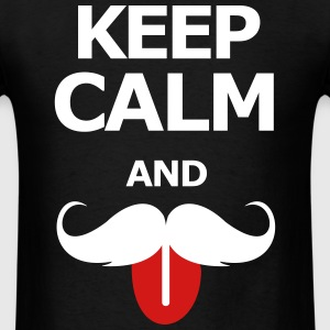 Keep Calm And Moustache on - Men's T-Shirt