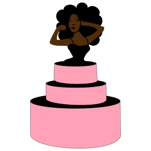 Woman Jumping Out From Cake