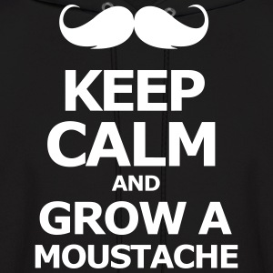 keep Calm and grow a moustache  - Men's Hoodie
