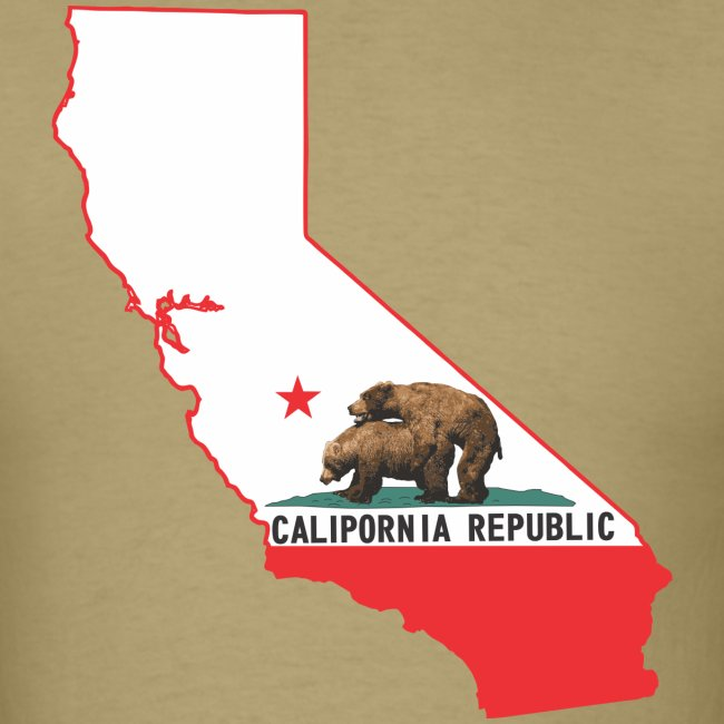 calipornia state outline