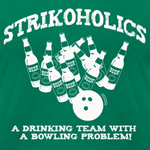 Strikoholics Bowling   - Men's T-Shirt by American Apparel
