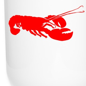 Red Lobster Outline Bottles & Mugs - Travel Mug