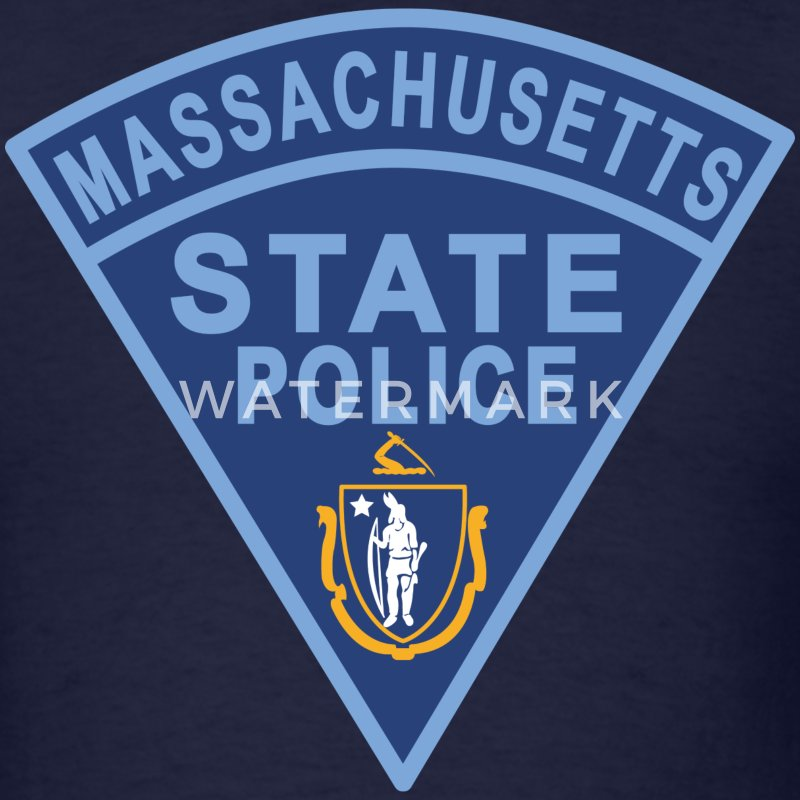 Massachusetts State Police Patch T-Shirts - Men's T-Shirt