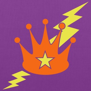 crown with a lightning bolt Bags & backpacks - Tote Bag