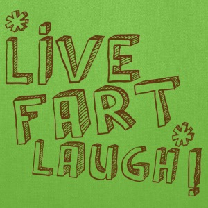 LIVE FART LAUGH joke fart lol Bags & backpacks - Tote Bag