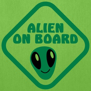 Alien on Board sign with a cute alien face Bags & backpacks - Tote Bag