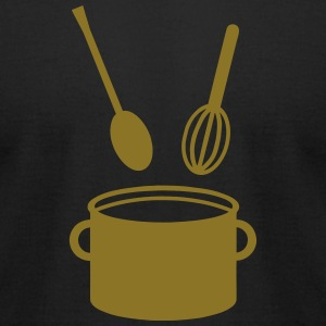 Cooking Pot - Spoon  T-Shirts - Men's T-Shirt by American Apparel