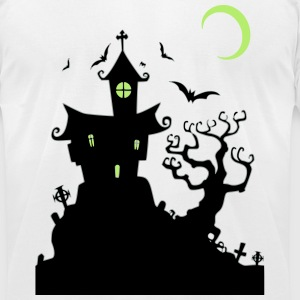 Haunted House T-Shirts - Men's T-Shirt by American Apparel