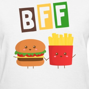 cute burger and French Fries who are bffs Women's T-Shirts - Women's T-Shirt