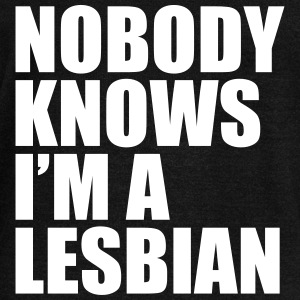 Nobody Know I'm A Lesbian Long Sleeve Shirts - Women's Wideneck Sweatshirt