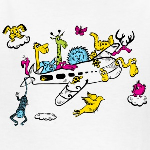 Animals on a Plane Kids' Shirts - Kids' T-Shirt
