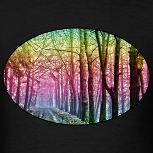 Nature - Rainbow - Forest - Park - Rural - Trees T-Shirts - Men's T-Shirt