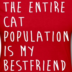 The Entire Cat Population Is My Bestfriend Long Sleeve Shirts - Women's Long Sleeve Jersey T-Shirt
