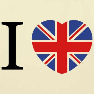 I love UK flag and heart Bags & backpacks - Eco-Friendly Cotton Tote