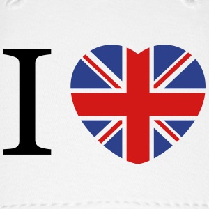 I love UK flag and heart Caps - Baseball Cap