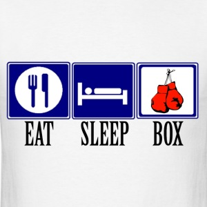 Eat, Sleep, Box - Men's T-Shirt