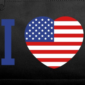 I love America heart flag Bags & backpacks - Duffel Bag