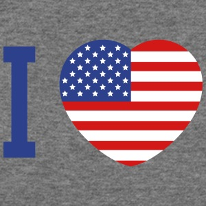 I love America heart flag Long Sleeve Shirts - Women's Wideneck Sweatshirt