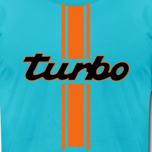 turbo, racing - Men's T-Shirt by American Apparel