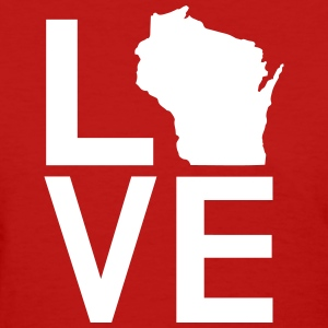 WISCONSIN LOVE Women's T-Shirts - Women's T-Shirt