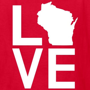 WISCONSIN LOVE Kids' Shirts - Kids' T-Shirt