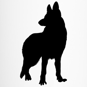 german shepherd silhouette Bottles & Mugs - Travel Mug