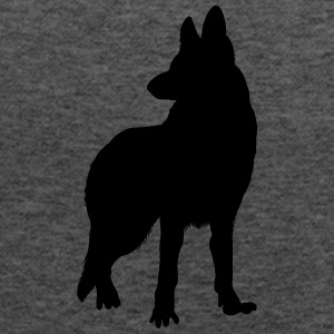 german shepherd silhouette Tanks - Women's Flowy Tank Top by Bella