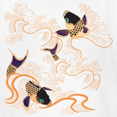 Koi Fish - Japan - Japanese - Tattoo - Art Kids' Shirts