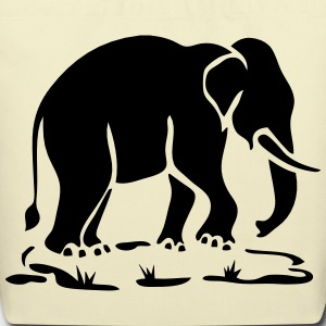 Asian Elephants Ahead Thai Traffic Sign Bags - Eco-Friendly Cotton Tote