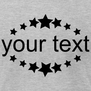Stars, sheet, text box, circle, emblem, wreath T-Shirts - Men's T-Shirt by American Apparel